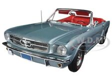1965 FORD MUSTANG CONVERTIBLE SILVER SMOKE GRAY LTD 1002p 1/18 AUTOWORLD AMM1103
