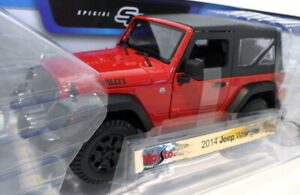 Maisto 1/18 Scale 46629 2014 Jeep Wrangler - Red