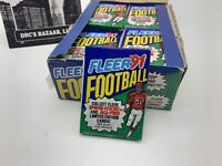 1991 Fleer Football Trading Cards Individually Sealed Factory 14 Card Pack
