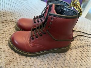 Dr Martins Kids Baby Brooklee B Boots Cherry Red Size 9