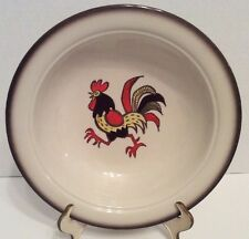 "Poppytrail By Metlox  Red Rooster 10"" Serving Bowl"