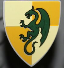 Lego Castle Shield Lt.Yellow + Ochre Quarters Dragon