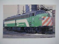 Burlington Northern EMD Passenger E-Unit #9901 Chicago IL Terminal 1974 Postcard