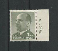 DDR 1087 y ULBRICHT 1965 GUTES PAPIER RAND RWZ postfrisch ** m605