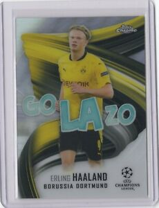 2020-21 TOPPS CHROME UCL GOLAZO ERLING HAALAND REFRACTOR #GOL-EH [SY]