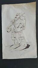 BATTLETECH ORIGINAL PEN AND INK DRAWING -FALCON By DANA KNUTSON -BTECH  HISTORY