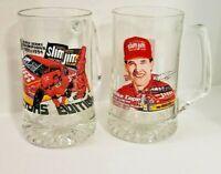 Vintage Slim Jim Racing Team Collectors Edition Beer Mug Lot Busch Series Champs