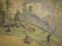 François Lataste (1812-1900) Landscape Barèges 1850 Pyrenees France Tarbes MTB