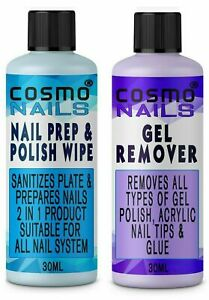 Nail Gel Polish Prep + And Wipe & Remover UV LED Manicure Acetone FAST DELIVERY
