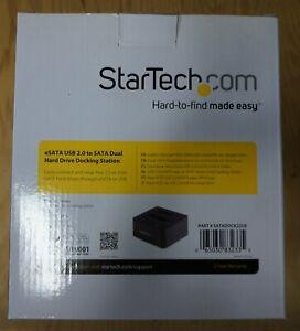 "StarTech SATADOCK22UE Dual 2.5/3.5"" Drive eSATA/USB 2.0 Docking Station NEW"