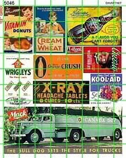 5046 DAVE'S DECALS EARLY 20th CENTURY ADS MACK, WRIGLEY'S, KOOL-AID, DONUTS MORE