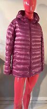 UNIQLO Down Coat / Long Jacket with Hood Purple Lightweight Size: L EUC