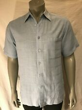 Marc Edwards, Short sleeve, Button down Powder Baby blue shirt size: M