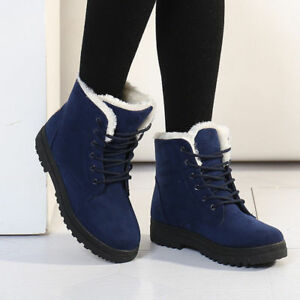 Winter Snow Boots Warm Suede Ankle Fur Thicken Women's Casual Ski Flats Shoes