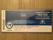 2016-17 New York Rangers NHL Official Mint Ticket Stubs - pick any game!