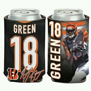 AJ GREEN CINCINNATI BENGALS Can Bottle Coozie Cooler FREE SHIPPING!