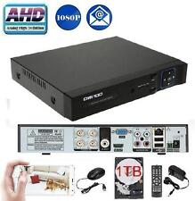 Owsoo 4Ch AHD 1080p Network P2P Cloud CCTV DVR for all Analog Cameras + 1TB HDD