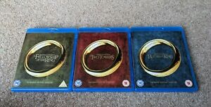 THE LORD OF THE RINGS Trilogy Extended Edition 6 Disc Region B UK BLU RAY