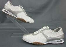 Cole Haan Air Bria Woven Oxfords White / Silver Leather US 8B Mint Condition!