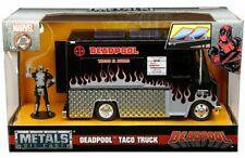 Jada 1:24 Metals Marvel Deadpool Taco Truck with Deadpool Figure Black 30540