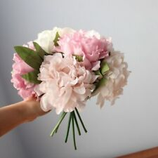 5 PCS Peony Silk Bouquet For Wedding Home Decoration Artificial Flowers Florist
