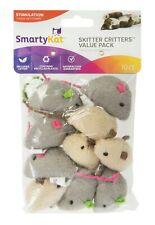 SmartyKat Skitter Critters 10-PACK Mice Catnip Cat Kitten Mouse Toys