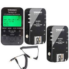 Yongnuo YN622C-TX Controller + 2PCS YN-622C TTL 1/8000 FlashTrigger for Canon