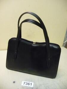7361. gebr. Damen Leder Tasche Handtasche 50er Jahre