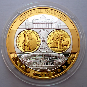 Vatican 2002 Commemorative Silver Proof Medal 0.999 with 24K Gold Plated (T79)