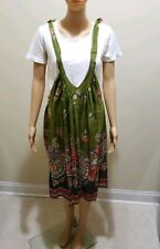 Women Suspender Skirt in Green by Whats Hot US Small New with tag