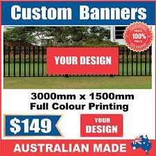 Custom Outdoor Vinyl Banner Sign - 3000mm x 1500mm - Australian Made