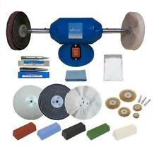 "Silverline 6"" 200W Bench Grinder And Metal Polishing Buffing Kit Machine"