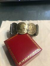 Bracelet Men Or Women Hand Made Silver Quarters
