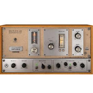 Arturia Rev PLATE-140 reverb analog tube preamp software download
