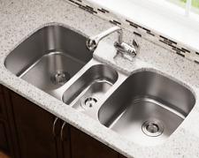 """SGI- 43"""" Stainless Steel 3-Bowl Sink 18 Gauge Undermount Kitchen T-304"""