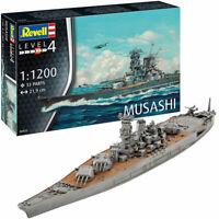 REVELL Japanese Battleship Musashi Ship Model Kit 1:1200 Ship Model Kit 06822