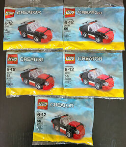 Lego Creator Polybag lot of 5 30187 Fast Car Brand New Factory Sealed