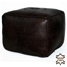 marocain cuir Coussin de siège tabouret fait à la main Pouff SOLDES CARRÉ