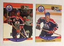 1990 Pro set  Mark Messier base #91 & MVP #397 Oilers