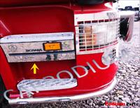 Scania 4 P G R 6 series Chrome Side Step Front Trim 4 pcs. S.Steel 1998-2016