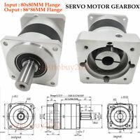 Planetary Reducer NEMA32 Ratio 5/10/20/25/35/50/80/100:1 for Servo Motor