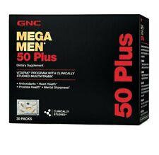 GNC Mega Men 50 Plus Vitapak, 30 Packs, Support Heart and Prostate Health SEALED