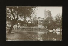 Kent MEDWAY Parish Church from across river c1920/30s? RP PPC religion