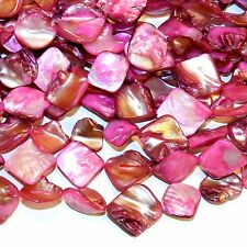 MPX1141L 10-Strands Pink 16mm - 20mm Diamond Nugget Mother of Pearl Shell Beads