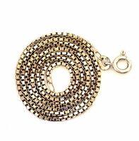 "18k white gold box chain necklace 1.3mm ladies 6.1g 15 3/4"" estate vintage 750"