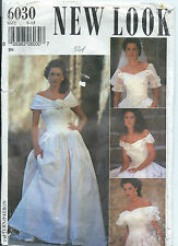 New Look 6030 Sew Pattern Wedding Bridal DRESS Gown BRIDE ~ 6 Sizes in ONE 8-18