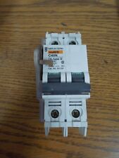 Merlin Gerin 60159 Multi 9 C60N Type D 7A 2p 240V Din Rail w/ Aux & Lockout Used