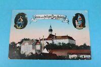 Alte Ak - Gruss vom heiligen Berg Andechs / Kloster Andechs - gelaufen (3)