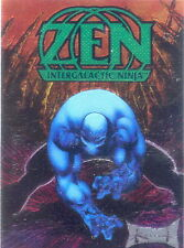 ZEN INTERGALACTIC NINJA 1993 SURGE ENT. CHROMIUM PROMO CARD NO NUMBER GREEN