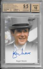 2013 JAMES BOND AUTO'S & RELICS ROGER MOORE AUTO BGS 9.5 GEM MINT 10 AUTO